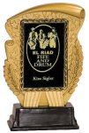 Gold & Black Rectangle Insert Holder Resin Award Employee Awards