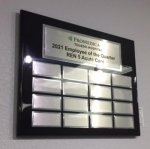 Black Piano Finish Perpetual Plaque Employee Awards