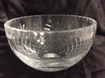 Medalion Salad Bowl 6 1/2 Executive Crystal Awards