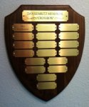 Walnut Shield Plaque 18 Plate Medium Perpetual Plaques