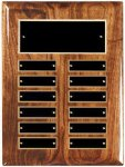 Solid Walnut High Gloss Perpetual Plaque Sales Awards