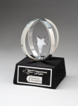 Chrome Plated Star in Aluminum Unisphere on Black Base Star Awards
